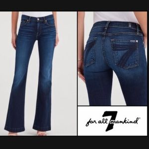 🔥 NWT 7 For All Mankind Dojo Wide Leg Flare Jeans